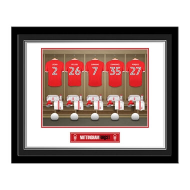 Personalised Nottingham Forest FC Dressing Room Framed Print