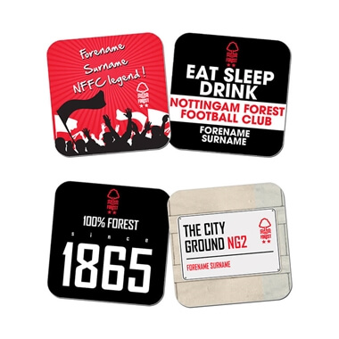 Personalised Nottingham Forest FC Coasters