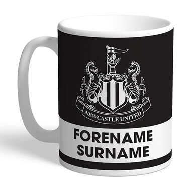 Personalised Newcastle United FC Eat Sleep Drink Mug