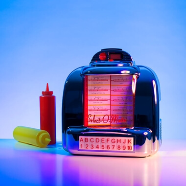 Steepletone Bluetooth Diner Style Jukebox