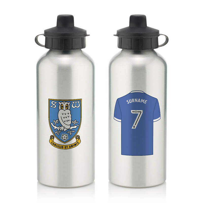 Personalised Sheffield Wednesday FC Aluminium Water Bottle