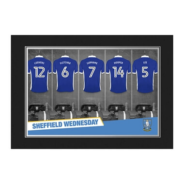 Personalised Sheffield Wednesday FC Dressing Room Photo Folder