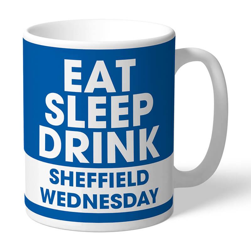 Personalised Sheffield Wednesday FC Eat Sleep Drink Mug