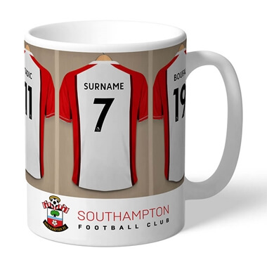 Personalised Southampton FC Dressing Room Mug