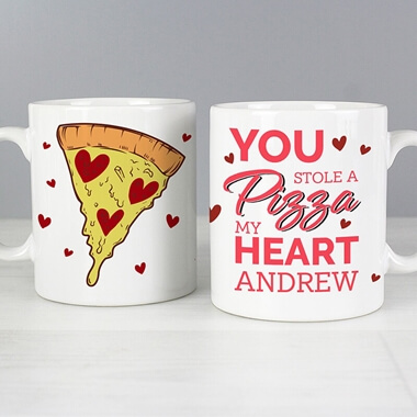 Personalised Pizza My Heart Mug