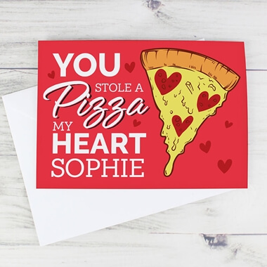 Personalised Pizza My Heart Card