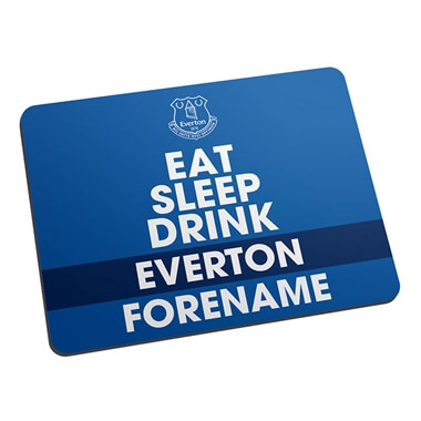Personalised Everton FC Eat Sleep Drink Mouse Mat