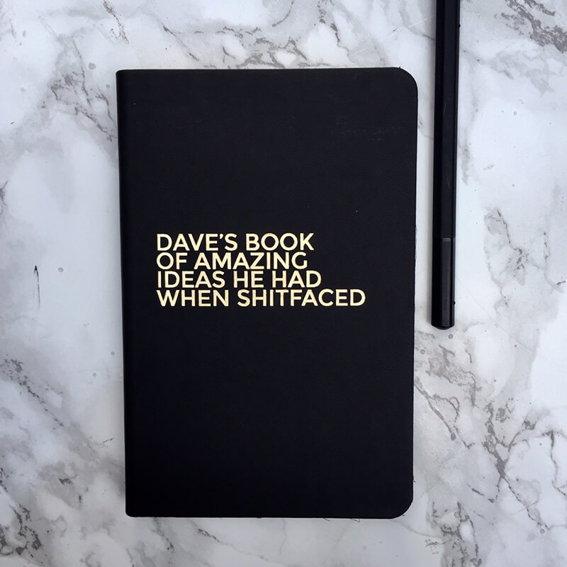 Personalised Amazing Ideas Leather Notebook