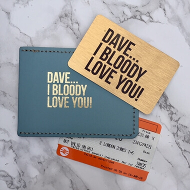 Personalised I Bloody Love You Leather Travel Wallet