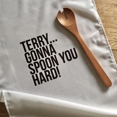Personalised Spoon You Tea Towel