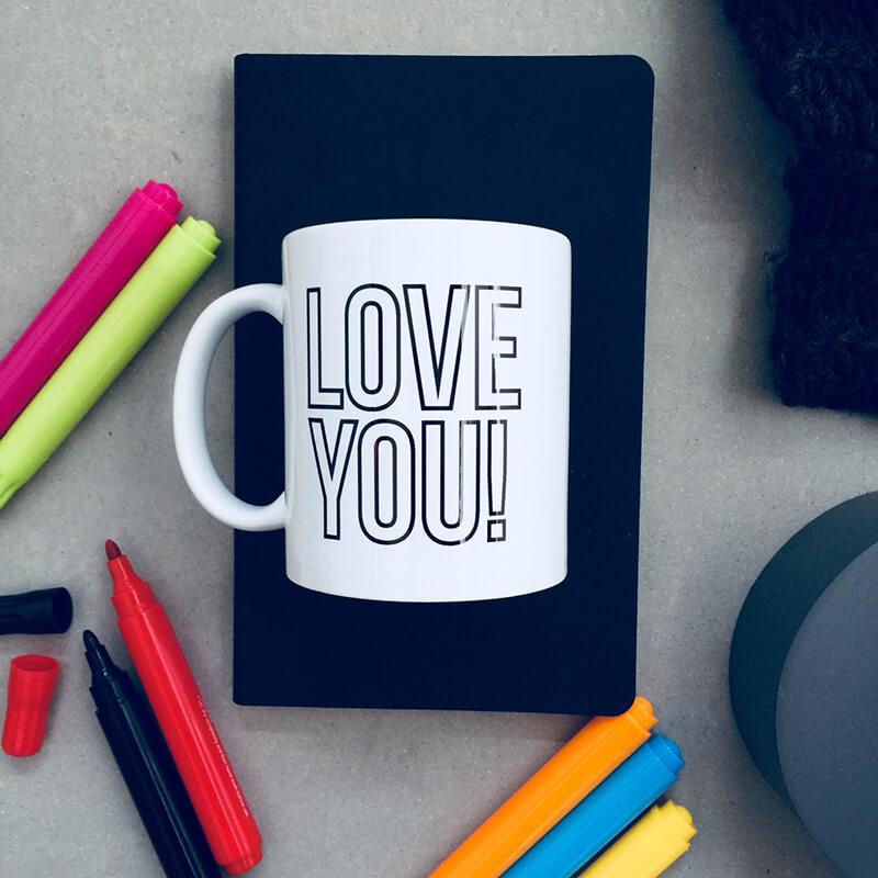Love You Colour In Mug