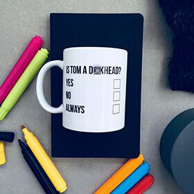 Personalised Checklist Colour In Mug