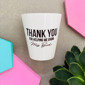 Personalised Thank You Plant Pot