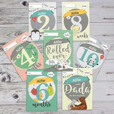Personalised Baby Milestone Cards