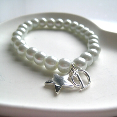Personalised Pearly Initial Bracelet