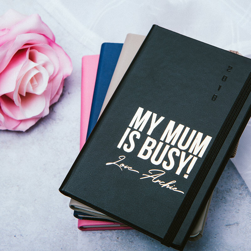 Personalised Mum is Busy 2018 Diary