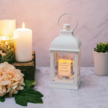 Personalised White Lantern