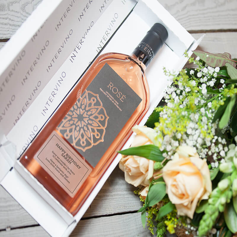 Personalised Letterbox Wine - Rose