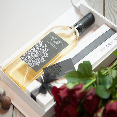 Personalised Letterbox Wine & Chocolates - White