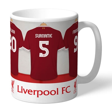 Personalised Liverpool FC Dressing Room Mug