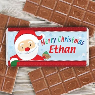 Personalised Santa Chocolate Bar