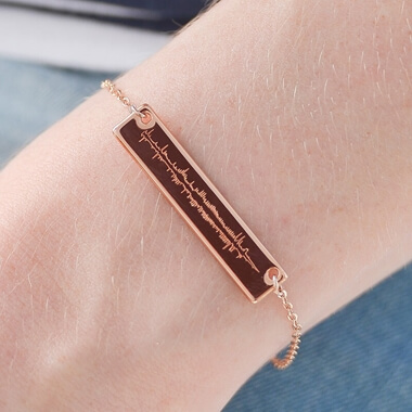 Personalised Sound Wave Bracelet