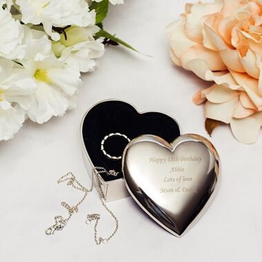 Personalised Heart Trinket Box & Love Gifts and Romantic Gifts Ideas for Him and Her From Prezzybox.com