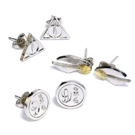 Harry Potter Earrings - Set of 3