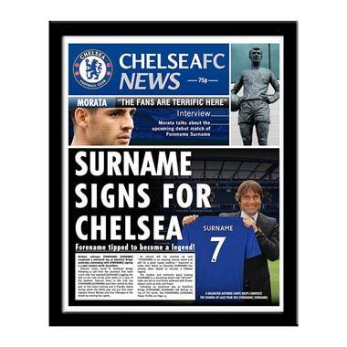 Personalised Chelsea FC News Framed