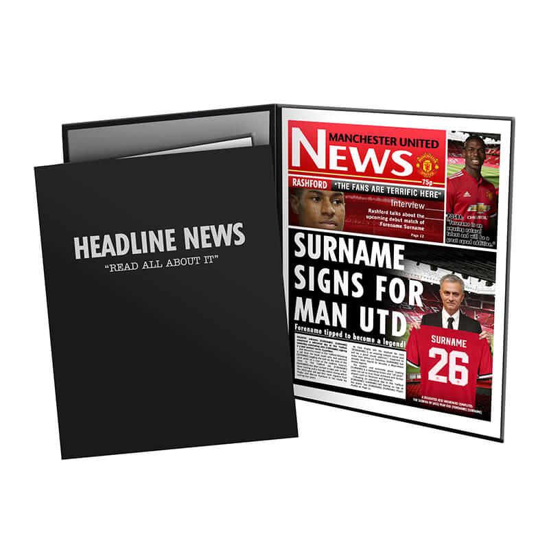 Personalised Manchester United FC News Folder