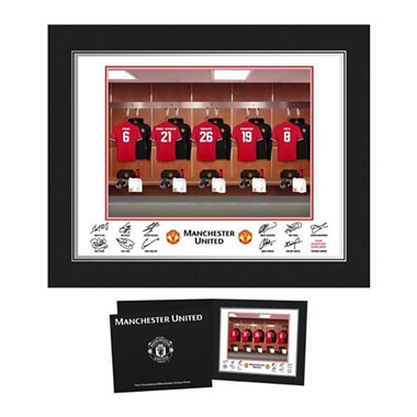 Personalised Manchester United FC Dressing Room Photo Folder