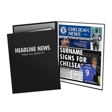 Personalised Chelsea FC News Folder