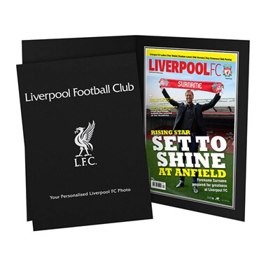 Personalised Liverpool FC Magazine Cover Photo Folder