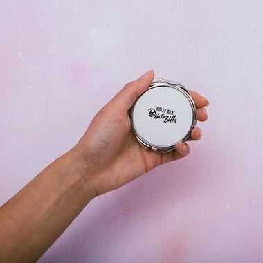 Personalised Aka Bridezilla Compact Mirror
