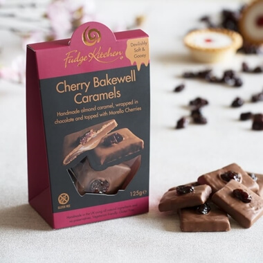Cherry Bakewell Caramels