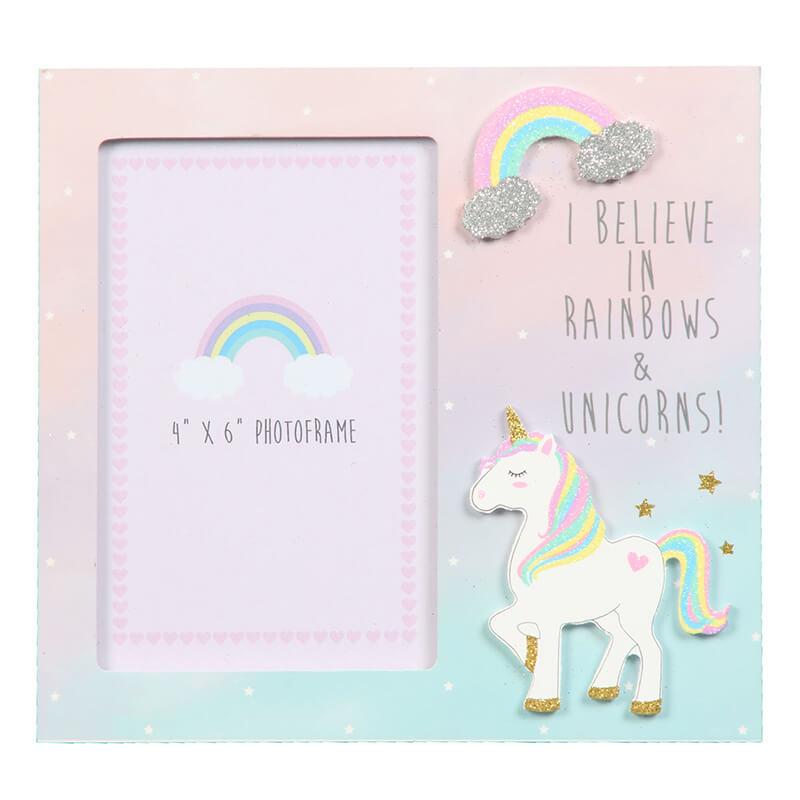 Unicorn I Believe Photo Frame