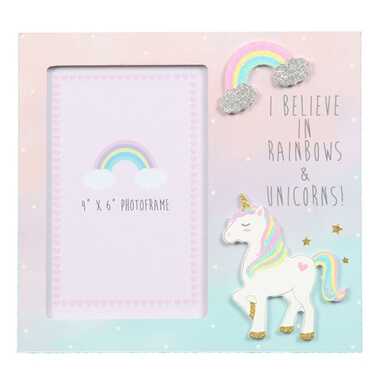 Unicorn I Believe Photo Frame