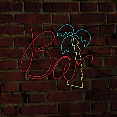 Bar Neon Effect Sign