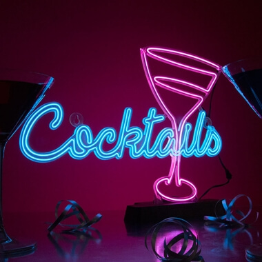 Cocktail Neon Effect Sign