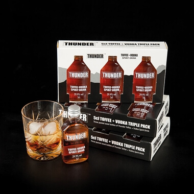 Thunder Toffee Vodka Triple Gift Set