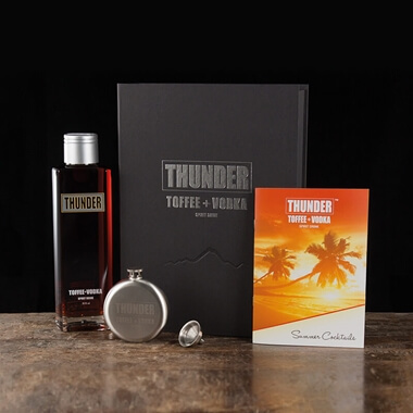 Thunder Toffee Vodka Gift Box And Hip Flask