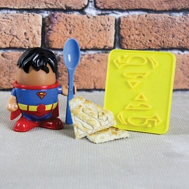 Superman Egg Cup And Toast Cutter