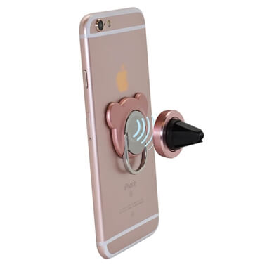 Mobile Grip In-Car Holder And Ring - Rose Gold