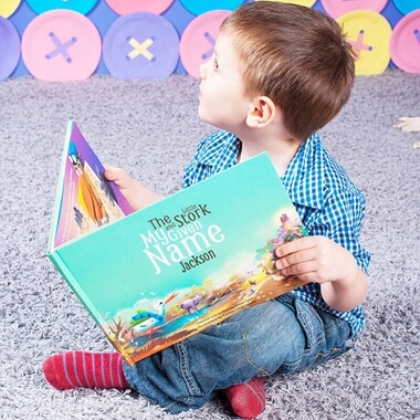 Personalised The Little Stork & My Given Name Book