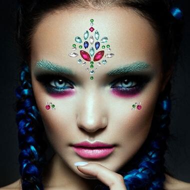 Mermaid - Face Jewels And Glitter Set