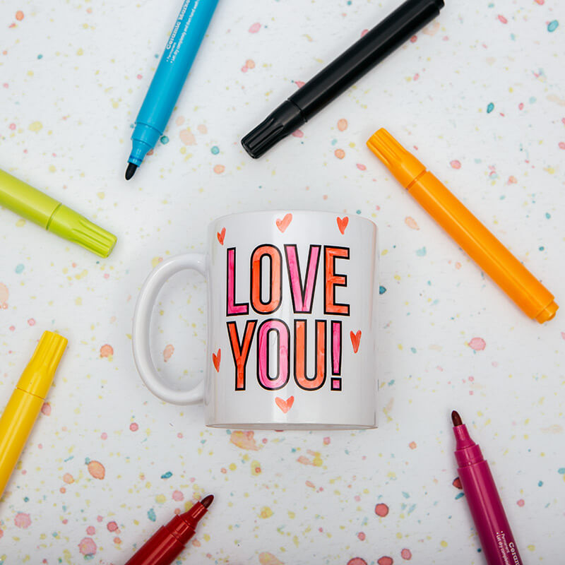 Love You Colour In Mug