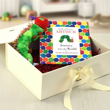 Personalised Very Hungry Caterpillar Plush Toy Gift Set