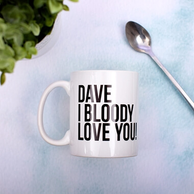 Personalised I Bloody Love You Mug