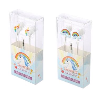 Enchanted Rainbows Unicorn Novelty Shaped Earphones