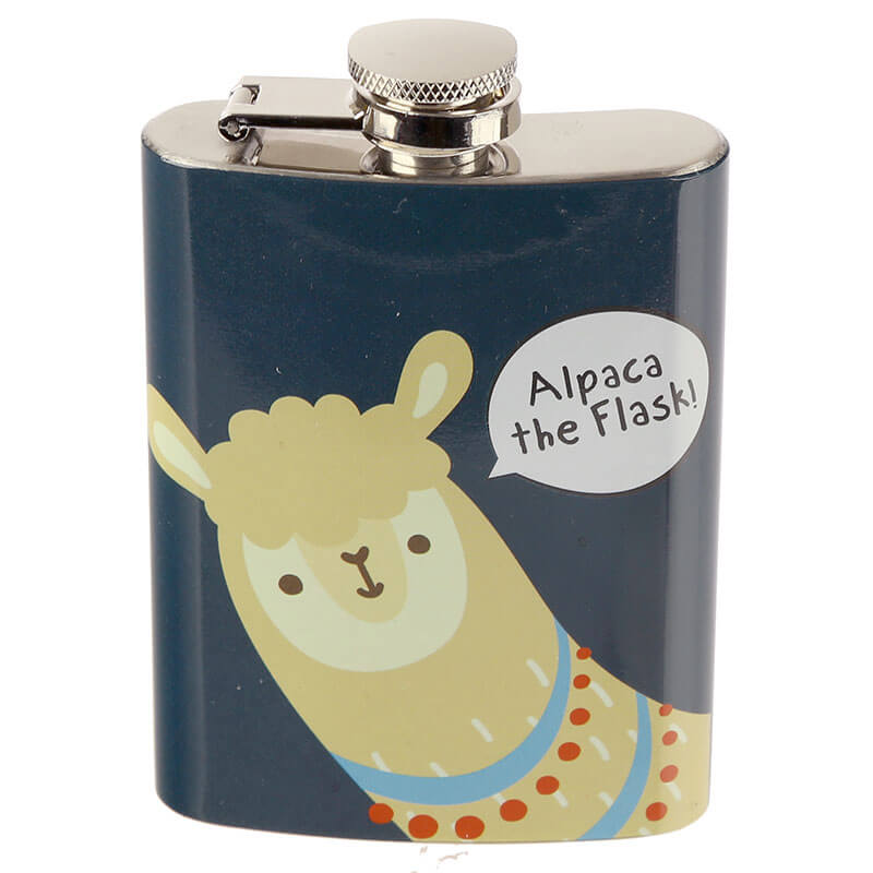 Handy Stainless Steel 6oz Hip Flask - Alpaca The Flask